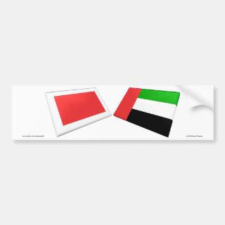 UAE & azulejos da bandeira de Ras Al Khaimah Adesivo Para Carro