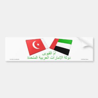 UAE & Umm azulejos da bandeira do al-Quwain Adesivo Para Carro