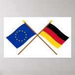 UE e bandeiras cruzadas Alemanha Posteres