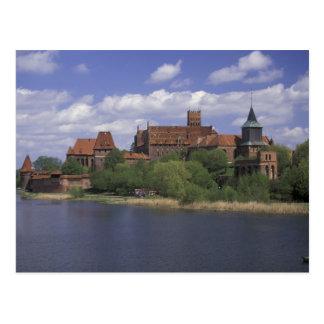 UE, Polônia, Pomerania, Malbork. Europa Cartão Postal
