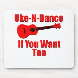 ukulele engraçado mouse pad