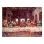 Última ceia por Leonardo da Vinci, arte de renasci Cartoes Postais