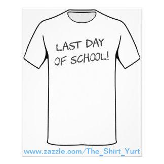Último dia da escola flyer 11.43 x 14.22cm