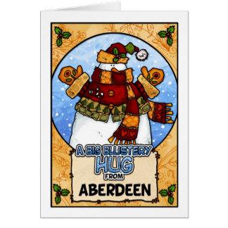 Um abraço Blustery grande de Aberdeen Cartão Comemorativo