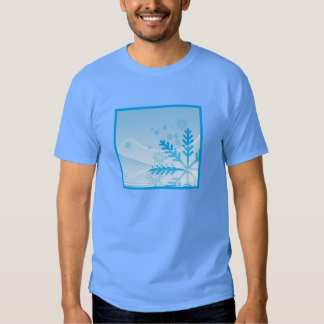 Um abstrato do floco de neve camiseta