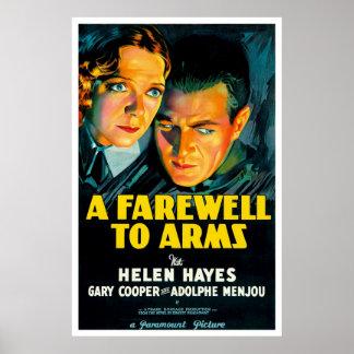 Um adeus aos braços - cartaz cinematográfico 1932  posters