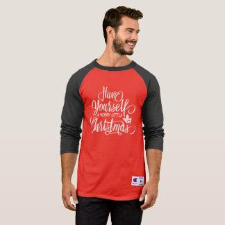 Um alegre pouca camisa do Raglan do Natal |