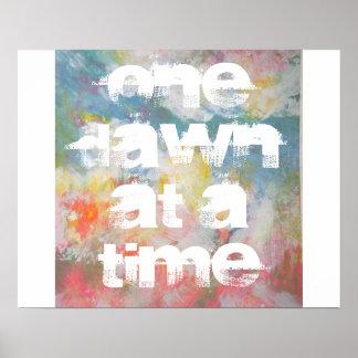 Um alvorecer em uma arte abstracta do tempo poster