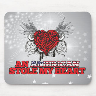 Um americano roubou meu coração mousepads