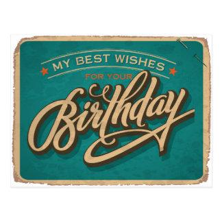 Um aniversário azul cartões postais
