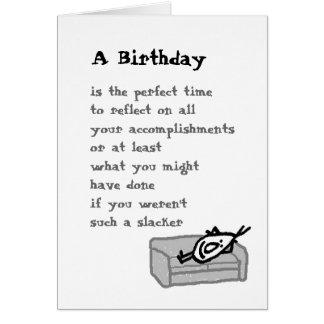 Um aniversário cartão comemorativo