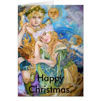 Um anjo e uma deusa do art., Chris feliz… Cartão Comemorativo
