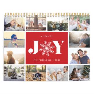 Um ano da alegria | 2018 calendários da foto