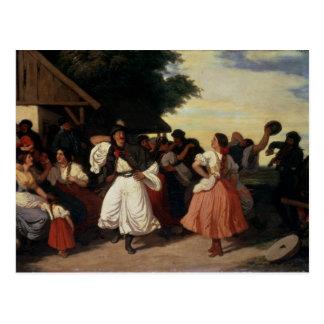 Um banquete do casamento da vila cartão postal