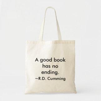 Um bom livro bolsas de lona