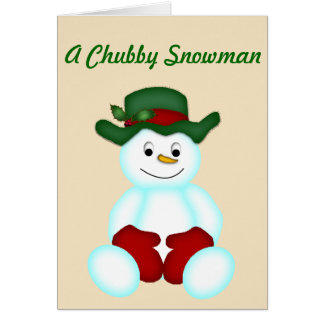Um boneco de neve carnudo cartão comemorativo