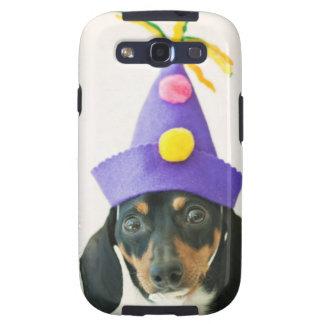 Um cão que veste um chapéu engraçado capa personalizadas samsung galaxy s3