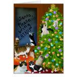 Um cartão de Natal felino da família