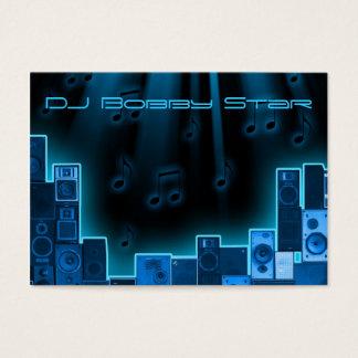 Um cartão de visita azul legal do laser do DJ
