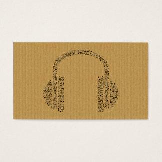 Um cartão de visita legal do ícone da música do DJ