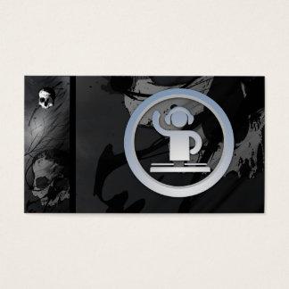 Um cartão de visita legal do ícone do DJ 3d do