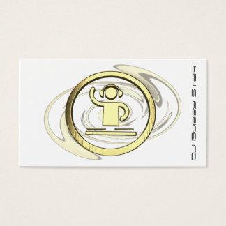 Um cartão de visita legal do logotipo de 3D DJ