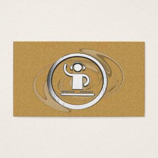 Um cartão de visita legal do logotipo do DJ da
