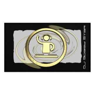 Um cartão de visita legal do logotipo do DJ do