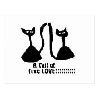 Um cartão do gato do amor do purrfect cartão postal