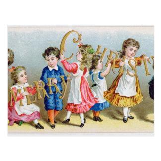 Um cartão do Victorian da feliz Christmas', Cartão Postal