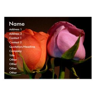 Um casal do rosa cartão de visita grande