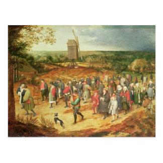 Um casamento do camponês cartão postal