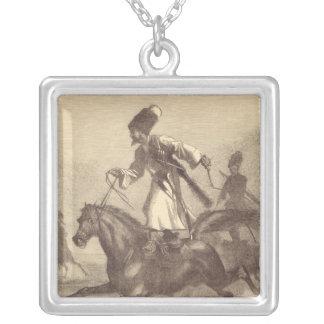 Um cavaleiro do Cossack Colar Personalizado