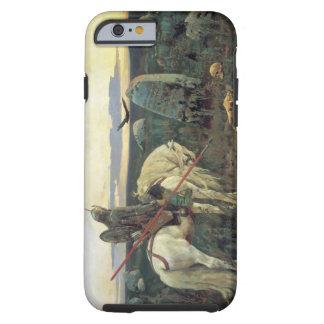 Um cavaleiro nas estradas transversaas capa tough para iPhone 6