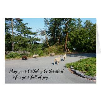 Um cheio do ano do aniversário religioso da cartão comemorativo