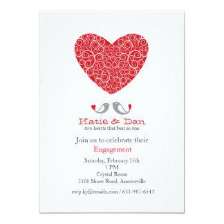 Um convite da festa de noivado do amor