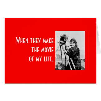Um dia dos namorados para sua estrela de cinema! cartão comemorativo