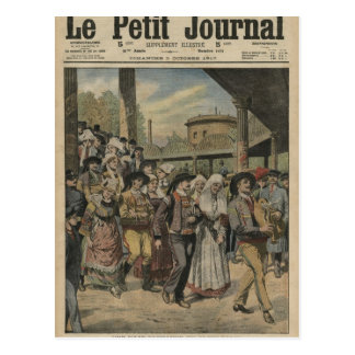 Um direito bretão do casamento em Paris Cartão Postal