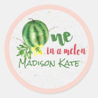 Um em etiquetas personalizadas melão de um