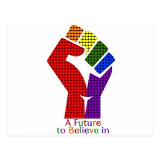 Um futuro a acreditar em LGBT Cartão Postal