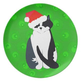 Um gatinho do Natal Pratos