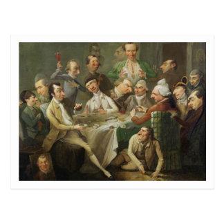 Um grupo da caricatura, c.1776 (óleo em canvas) cartão postal