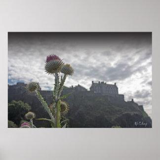 Um impressão do poster da foto do castelo de Edimb
