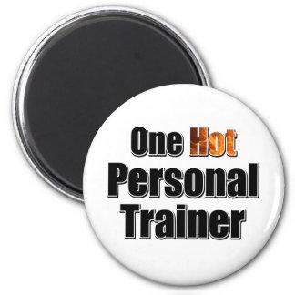 Um instrutor pessoal quente ímã redondo 5.08cm