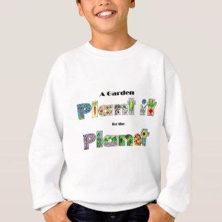 Um jardim, planta-o para o planeta, slogan agasalho