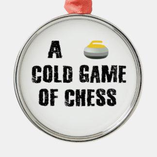 Um jogo frio do ornamento de ondulação da xadrez