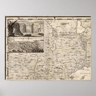 Um mapa do Império Britânico na folha 1 de América Pôsteres