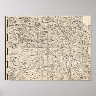 Um mapa do Império Britânico na folha 5 de América Poster
