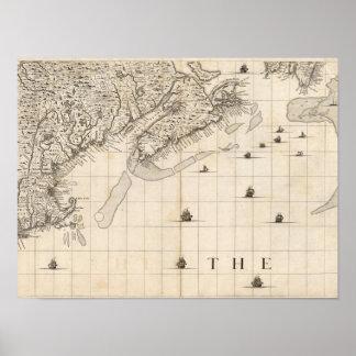 Um mapa do Império Britânico na folha 7 de América Poster