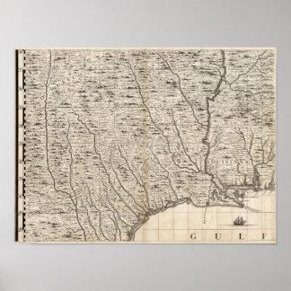 Um mapa do Império Britânico na folha 9 de América Poster